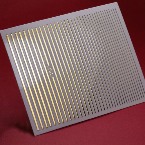3D металлические наклейки полосы для дизайна ногтей (золото)
