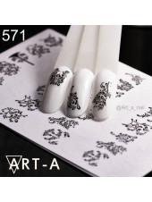 3D наклейки для дизайна ногтей 571