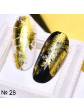 Фольга для дизайна ногтей золото №28
