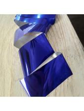 Фольга для дизайна ногтей синяя