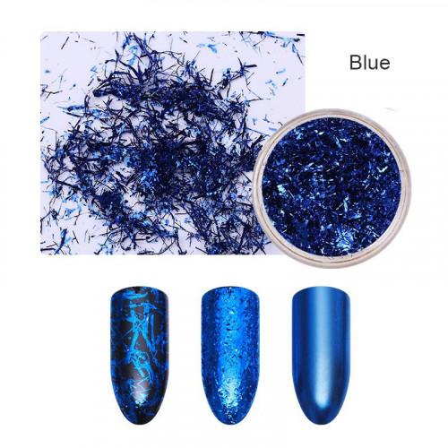 Хлопья для дизайна ногтей Galaxy Wow (синий)