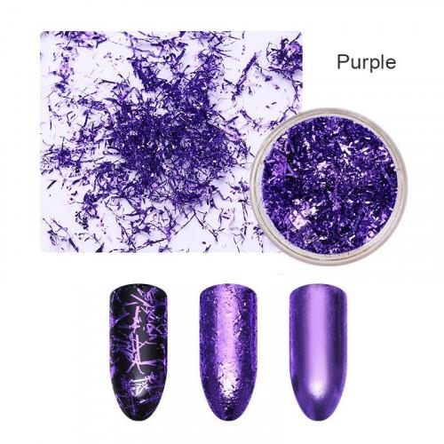 Хлопья для дизайна ногтей Galaxy Wow (фиолетовый)