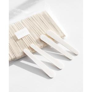 Пилка 100/180 грит одноразовая на деревянной основе (малая) 7,6 см.