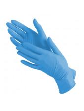 Перчатки нитриловые голубые NitriMax, S 1 пара