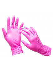 Перчатки розовые Wally Plastic, M 50 пар.
