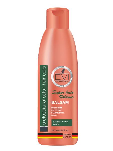 «EVI» Professional  Бальзам - ополаскиватель «Объем и сила» для тонких и ослабленных волос. 250 мл