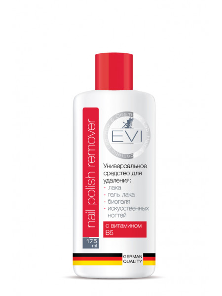 EVI Professional Универсальное средство для снятия всех видов гель-лака, биогеля, иск ногтей 175 мл