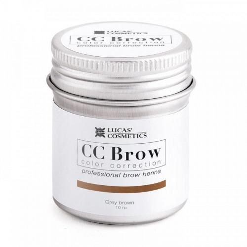Хна для бровей CC Brow (grey brown) в баночке (серо-коричневый), 5 гр в Хабаровске