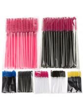 Щёточка для бровей и ресниц (упаковка 50 штук) цвета в ассортименте