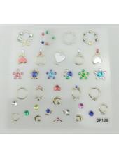 3D наклейки для дизайна ногтей №128