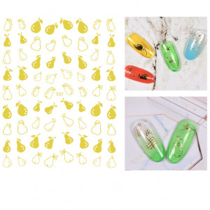 3D наклейки для дизайна ногтей №707