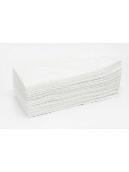 """Полотенце большое """"Soft"""" 45*90 пачка белый спанлейс (50шт.)"""