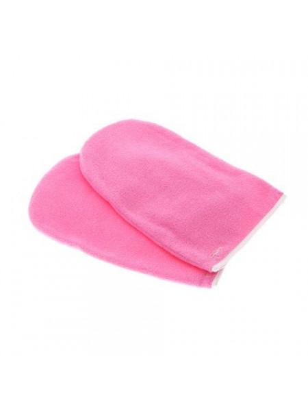 Варежки для парафинотерапии махровые розовые