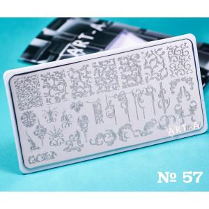 Пластина для стемпинга Art-A 057
