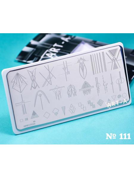Пластина для стемпинга Art-A 111