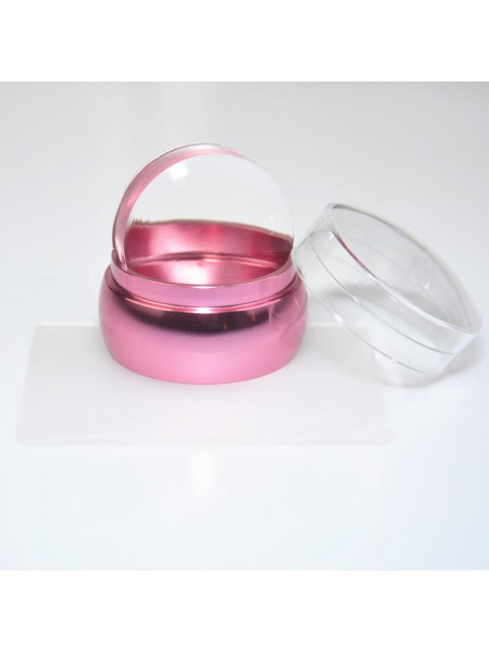 Штамп для стемпинга №2 (розовый) 3,5см + скрапер