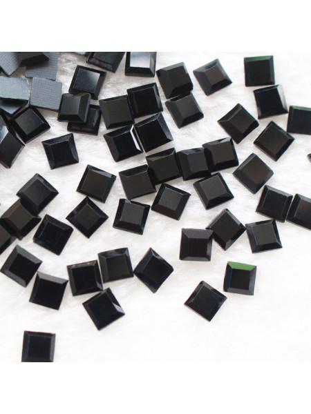 Стразы для ногтей квадрат 4мм. Hematite 10шт.