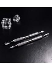 Лопатка маникюрная HITOMI HP 10/1 (скругленный пушер+пика). Staleks